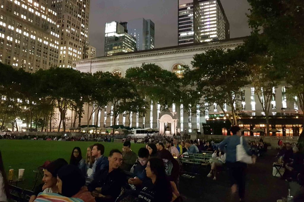 bryant park hbo movie festival